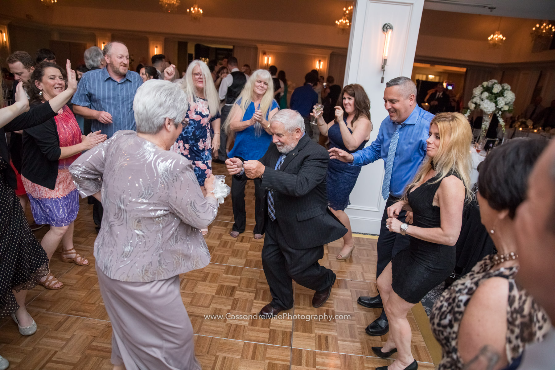 Senior citizen dancing